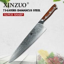 XINZUO 10 zoll kochmesser Japanischen Damaskus edelstahl küchenmesser professionellen Gyutou messer mit luxus rose holzgriff