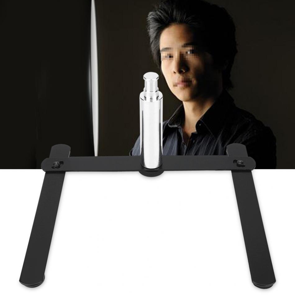 Foldable Photography <font><b>Led</b></font> <font><b>Ring</b></font> Light Stand Base Studio Live Show Table Stand Aluminum Alloy Support Bracket for Make Up &#038; <font><b>Selfie</b></font>