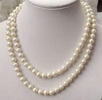 wholesale good Pretty 8mm white South Sea Shell Pearl round beads necklace 32 AAA @^Noble style Natural Fine jewe FREE SHIPPING