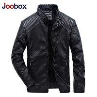 Autumn Winter men's leather jacket 5XLQuality PU Outerwear leisure motorcycle leather jacket fleece men coat Slim Windproof