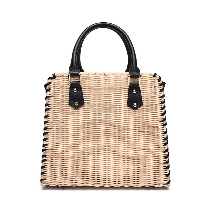 e8c3499e124a Высококачественный плетеная Сумка из ротанга натуральной кожи  соответствующий ручной работы женские сумки импортируется из ротанга качес