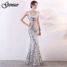 2019 Summer Dress Woman Sexy Sequin Long Robe Femme Glitter Formal Party Wedding Dating Black Elegant Bodycon