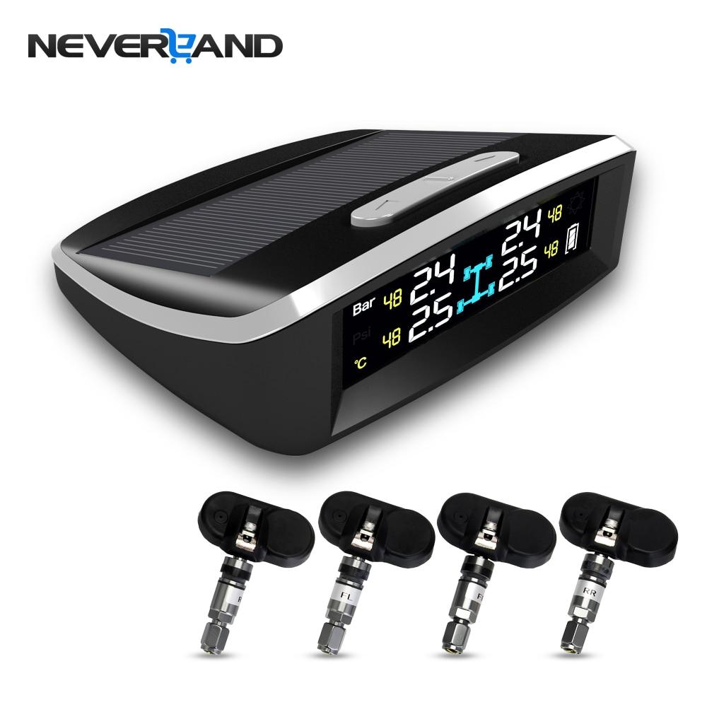NEVERLAND Wireless Smart Car TPMS 12V Digital Tire Pressure Monitoring System Tire Pressure Alarm External & Internal Sensor цена