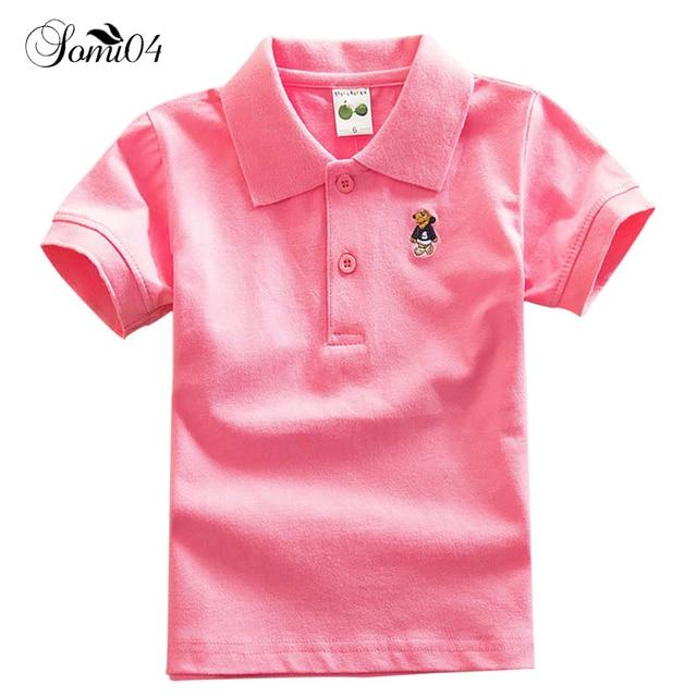 7013bea5 Children Kids Polo Shirts Solid 2018 Short Sleeve Students Summer School  Uniforms Big Teens Boys Little Girls Cotton Lapel Tops