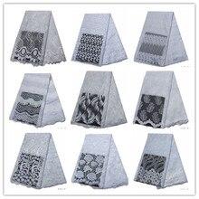 Toptan Beyaz dantel Yüksek Kaliteli Afrika Beyaz Dantel Kumaş Yeni Beyaz Fransız Dantel Kumaş Beyaz Nijeryalı Dantel Kumaşlar Elbise için