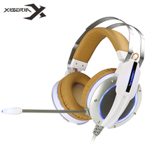 Xiberia X11Best Computer Stereo Gaming Headphones Deep Bass Game Earphone Headset with Vibration Function/Mic for PC Gamer