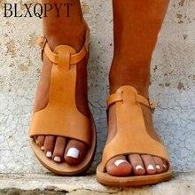BLXQPYT 2019 Gladiator Sandals Plus Size 34-52 Shoes Women Flat Sandals Open toe Sapato Feminino Summer Chaussure Femme 1931