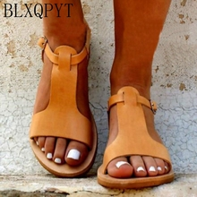 BLXQPYT 2019 Gladiator Sandals Plus Size 34-52 Shoe