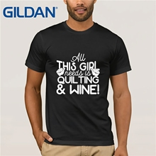 52232aff GILDAN men's Quilting T Shirt for Wine Lover men's T-shirt(China)