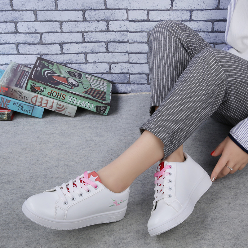 New Fashion Women Sneakers Platform Causal Shoes Lace Up PU Leather Shoes Trainers Basket Femme Black Sapato Feminino fashion women flats summer leather creepers platform sneakers causal shoes solid basket femme white black