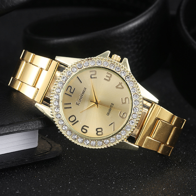2018 Women Watches Brand Top Luxury Fashion Casual Gold Stainless Steel Quartz W