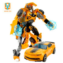 1PCS Cartoon toy Transformation Robot Plastic Cars Action Figure Toys for Children Educational Toy for Christmas