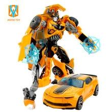 1PCS Cartoon toy Transformation font b Robot b font Plastic font b Cars b font Action