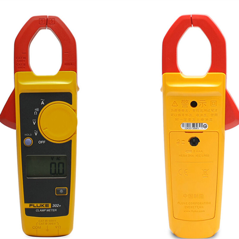 F302+ Clamp Meter Multimeter AC 400A Automatic Low Battery Indicator Electrical Digital affordable цена