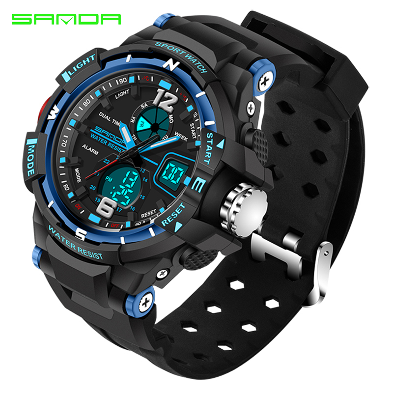 SANDA 289 Luxury Watch Men Fashion Waterproof Analog Sports Quartz Wrist Watch Mens Watches Top Brand luxury reloj mujer fashion top gift item wood watches men s analog simple bmaboo hand made wrist watch male sports quartz watch reloj de madera