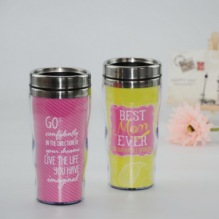 450ml Double Wall Stainless Steel Paper Insert Tumbler
