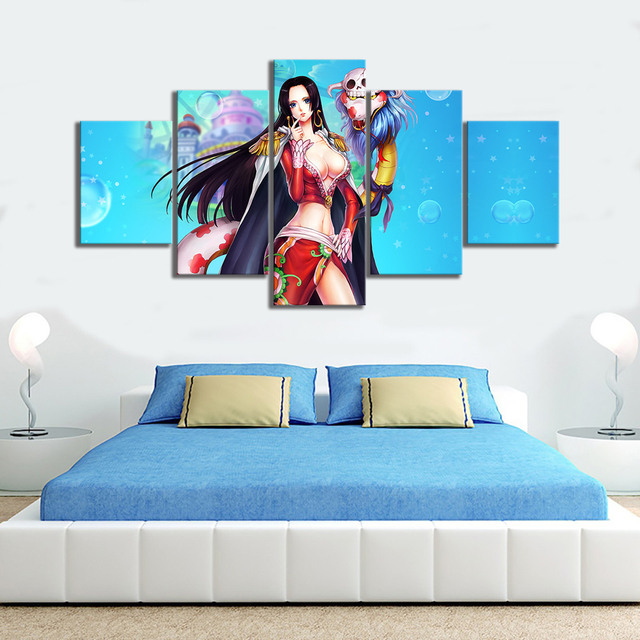 Wall Art Modular Canvas Prints Poster 5 Pieces Sexy Animation In One Paintings Pictures Home Living Room Frame