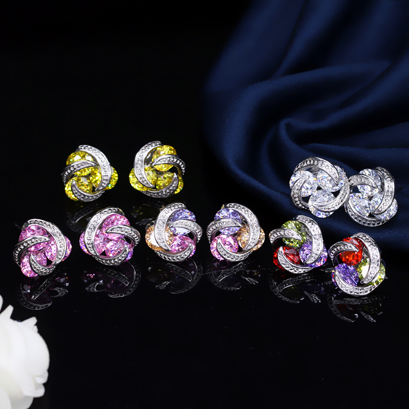 Crystal Stud Earrings4
