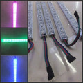 50Pcs 1m 100cm 72pcs SMD 5050  Waterproof RGB LED rigid strip 12V led Bar Light with U Aluminium IP68