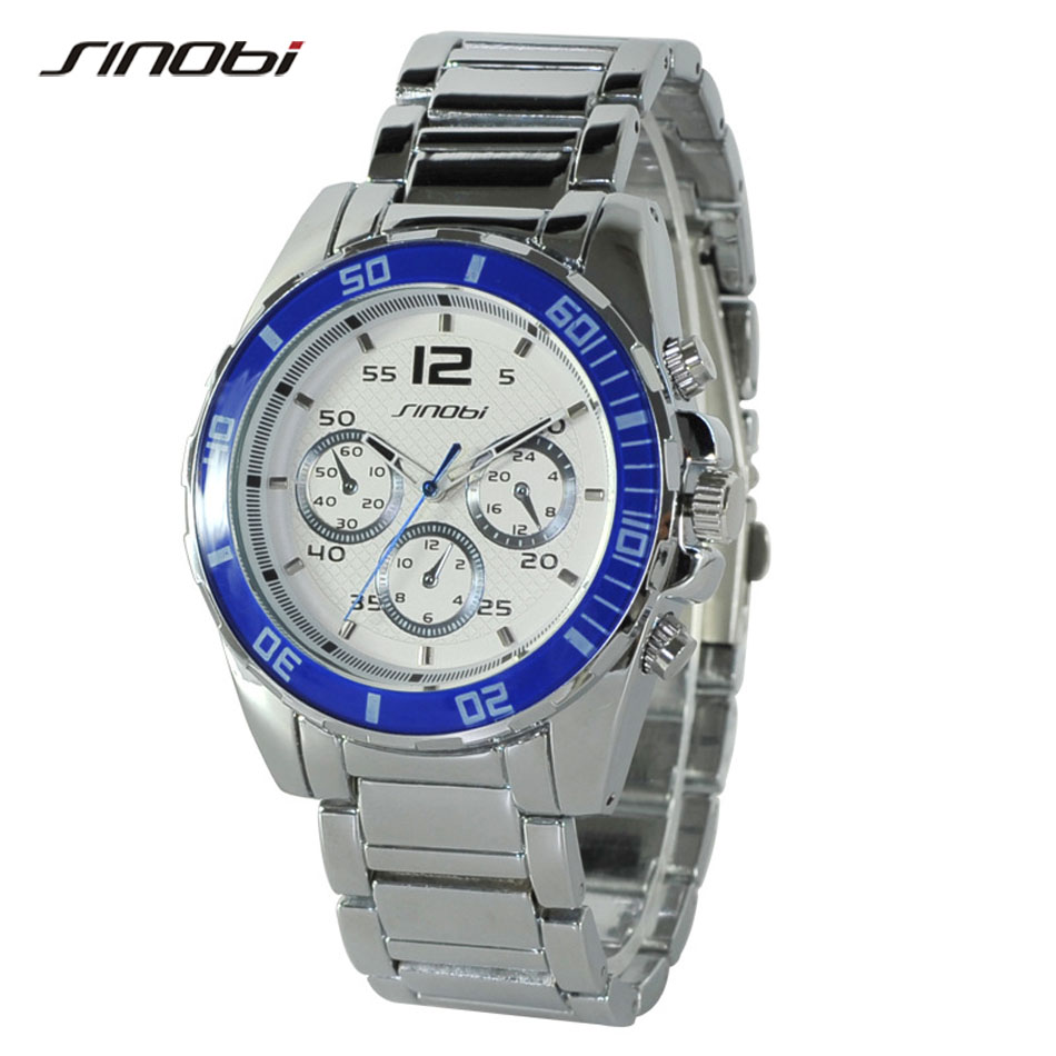 SINOBI Luxury Top Brand Men s Boy Military Dress JAPAN Quartz Steel Watches Casual Clock Wristwatch