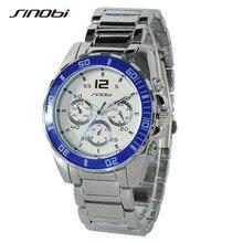 SINOBI Luxury Top Brand Men's Boy Military Dress JAPAN Quartz Steel Watches Casual Clock Wristwatch Relogio Masculino Male K74