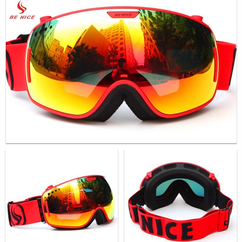 Prix pour Benice En Plein Air Sports D'hiver Motoneige Lunettes de Ski Snowboard Lunettes De Protection avec Résistant Aux Rayures Lentille SN-3800