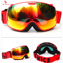 Benice Outdoor Winter Sports Snowmobile Ski Goggles Snowboarding Protective Eyewear with Scratch Resistant Lens SN-3800