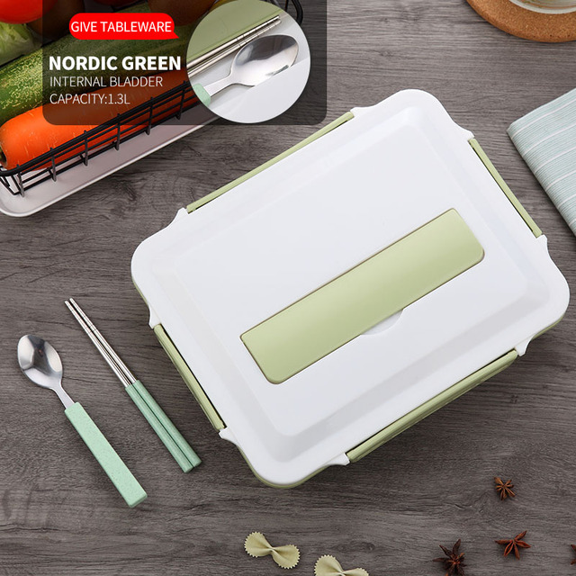 Green Cheap bento boxes stainless steel 5c6479e2ed735
