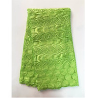 factory direct offer green color Embroidered lace 2017 latest african Guipure cord lace fabric for party dresses Alice-528