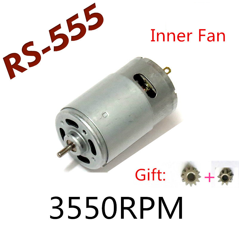 Replacement Motor <font><b>RS</b></font>-<font><b>555</b></font> DC 10.8V 12V 3550rpm For BOSCH MAKITA HITACHI electric Screwdriver vacuum cleaner toys motor image