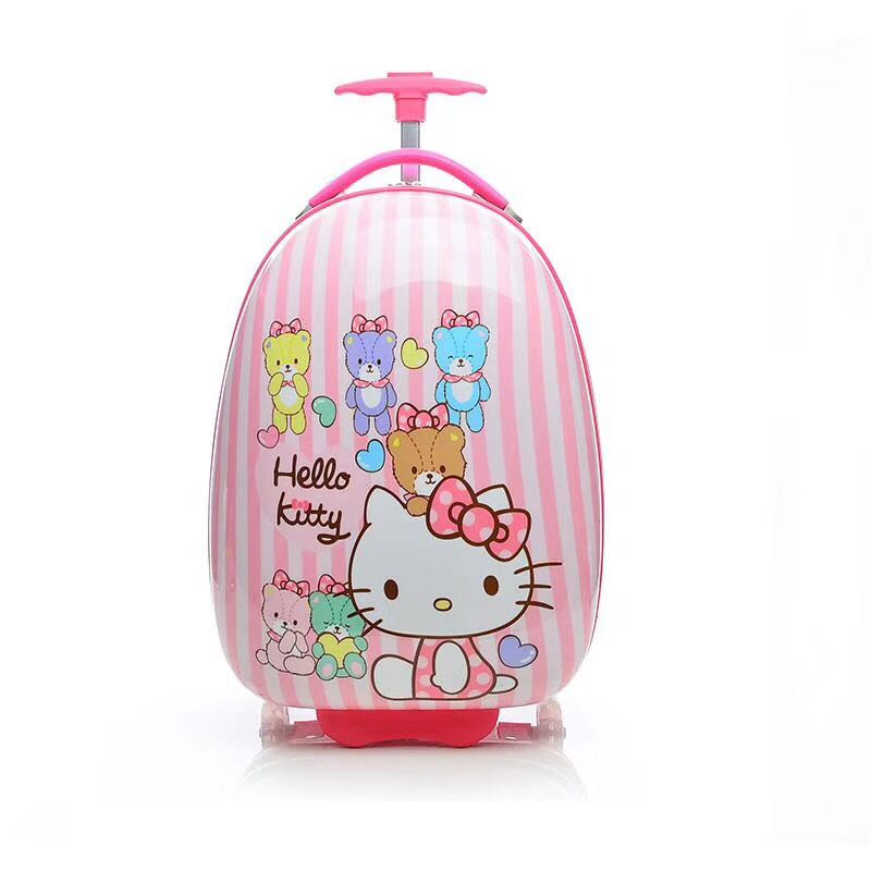 Hello Kitty School Backpack Children Trolley Backpack School Bags with Wheels for Girls Kids Wheeled Bag Bookbag travel luggage