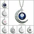 Мода серебряная Луна ожерелье цвета заявление бренд EXO Звезда стеклянные ожерелья, подвески и ожерелье Collares Maxi ювелирные изделия девочка S1