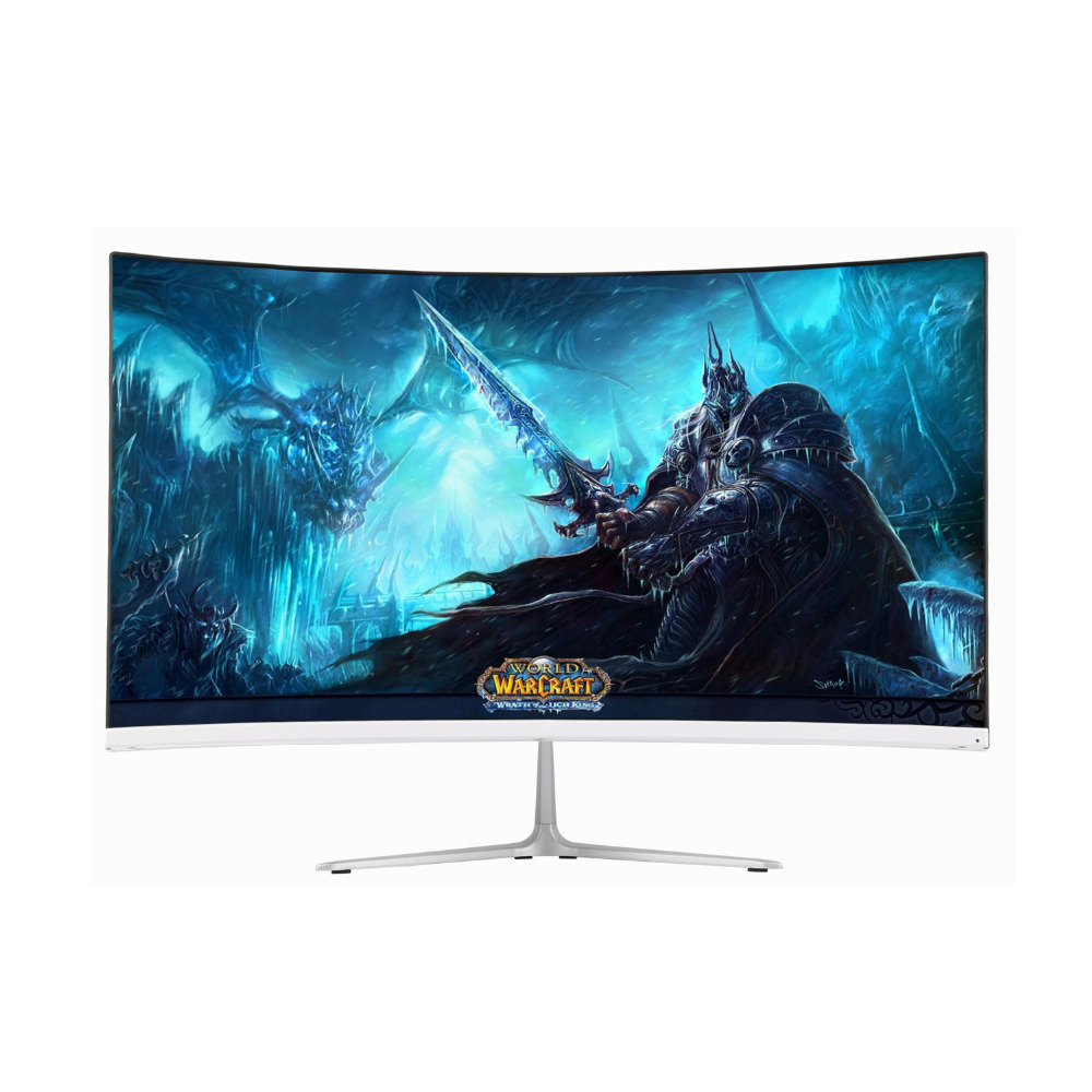 Wearson 23.8 inch Ultra Thin 7mm Curved Widescreen LCD Gaming Monitor HDMI VGA input 2ms Response WS238H