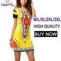 Mujer de Talla grande Vestido de Verano de Las Señoras Bodycon Vestidos de Las Mujeres Ropa Femenina Sexy Vintage Boho Túnica Mini Casual Dashiki Africano