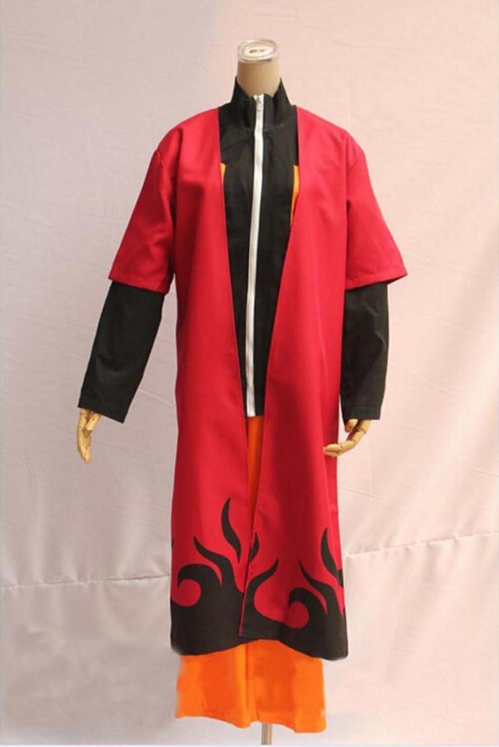New Fashion Unisex Naruto Cosplay Costumes Japan Anime Uzumaki Naruto Cosplay Robes Cool Man Cool Woman Cosplay Costumes