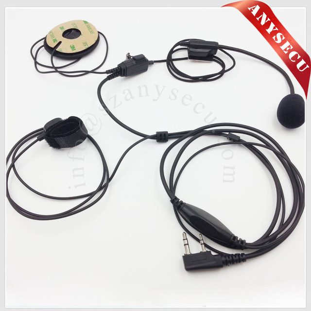 2pcs MIC-FL05-K1 Full Face helmet Racing Headset Speaker Microphone with 2 PTT for Baofeng/HYT/TYT/WOUXUN/QUANSHENG 2 Way Radio