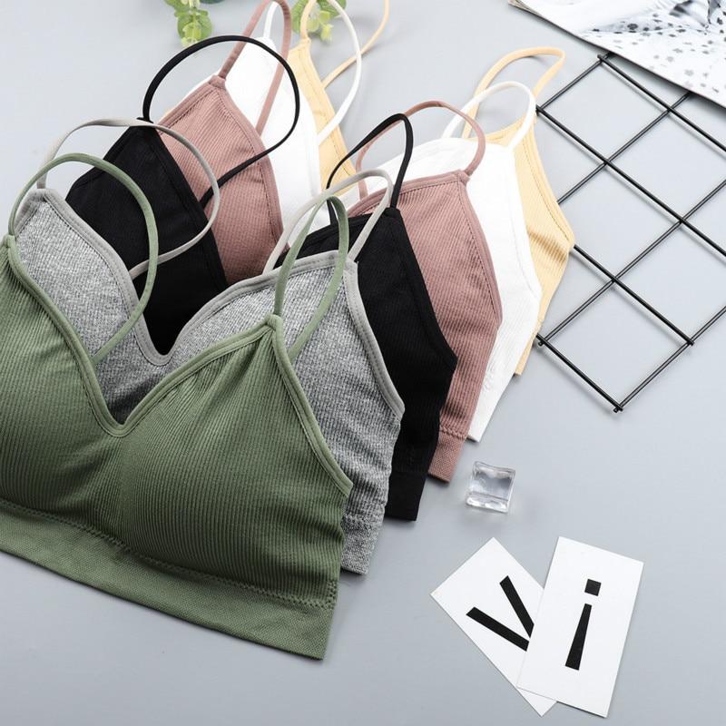 CHRLEISURE Elastic Gathering Bralette Push Up Bra Summer Anti-light Korean Style Wild Bra Tube Top Sexy No Rims Bra
