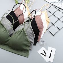 Chrleisure elástico reunindo bralette push up bra verão anti-luz estilo coreano selvagem sutiã topo sexy sem jantes sutiã