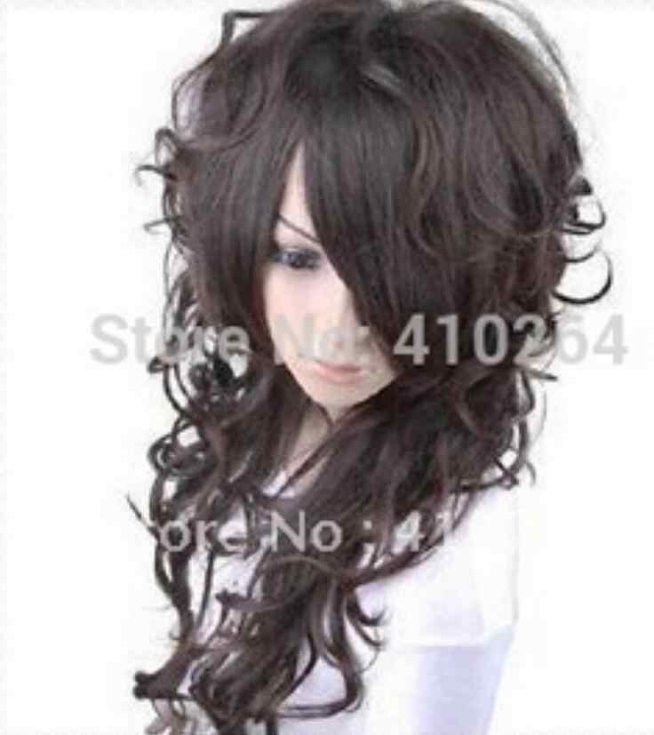 Парик Новый красный женский черный коричневый vavy/вьющиеся длинные парики без кружева спереди