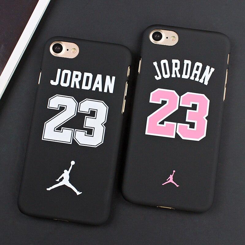 purchase cheap 38fb2 41084 US $1.99 |7&7plus Case Jordan 23 Phone Case For iphone 7 6 6s 5 5s SE Cover  Matte PC Hard Cover Back Case For iphone 7 Plus 6 6s Plus Capa on ...