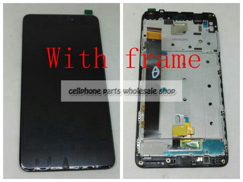 Pour Xiaomi Redmi Note 4/Note4 MTK Helio X20 version Écran Lcd Avec Écran Tactile En Verre DIgitizer Avec Cadre Assemblée Remplacer