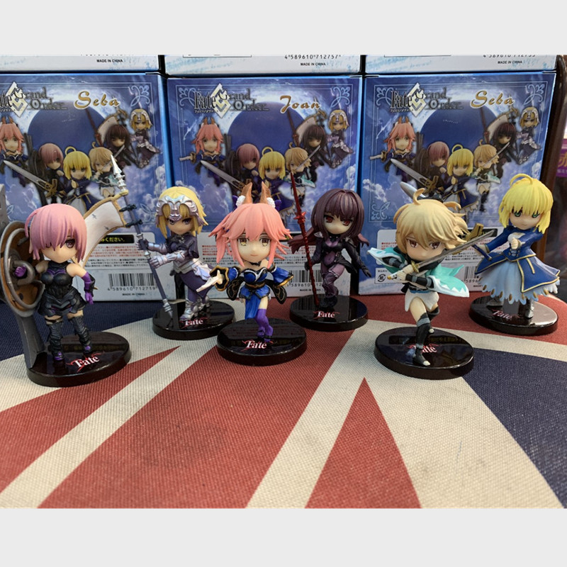 Fate/Grand Order action figure Lancer Scathach Jeanne dArc Olgamally Fujimaru Ritsuka Kiyohime Artila Astolfo PVC Figures 6pcsFate/Grand Order action figure Lancer Scathach Jeanne dArc Olgamally Fujimaru Ritsuka Kiyohime Artila Astolfo PVC Figures 6pcs
