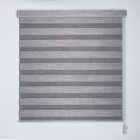 Customized Size Window Shades Full Blockout Dual Zebra Roller Blinds
