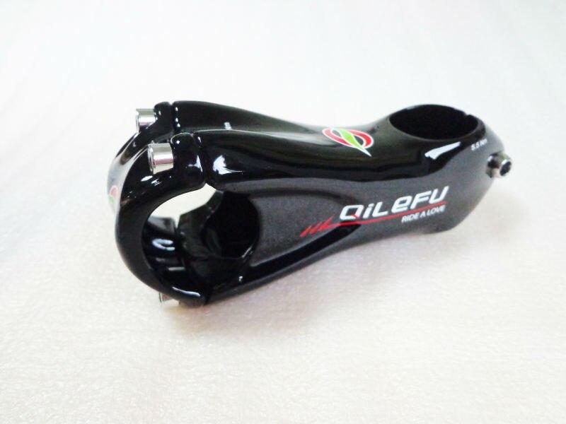 새로운 QILEFU 산악 자전거 UD 3K 전체 탄소 자전거 줄기 6 각도 도로 탄소 줄기 31.8 * 80 / 90 / 100 / 110 / 120mm MTB 부품 무료 선박
