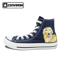Hand Painted Converse Shoes Dog High Top All Star Canvas Sneakers Unique Gifts For Men Women
