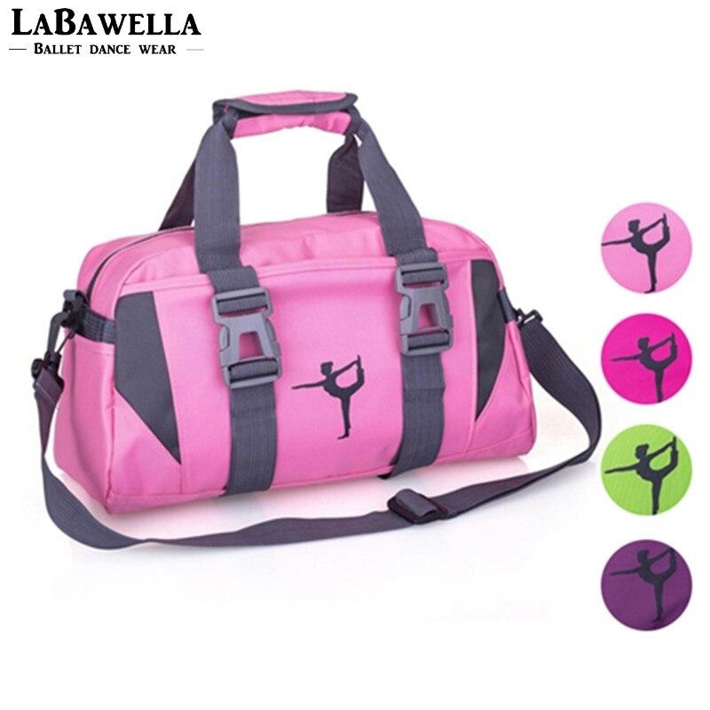 Для женщин фиолетовый Йога спортивная сумка Обувь для девочек розовый тренажерный зал Танцы сумка для Фитнес взрослых большой Водонепрони...
