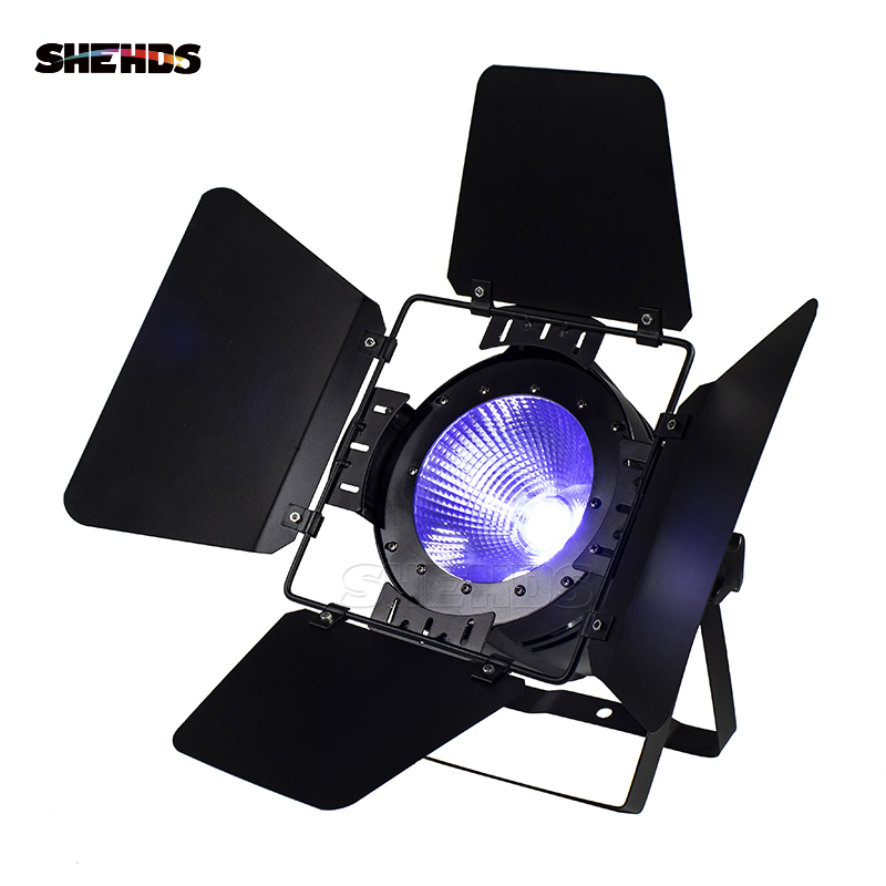 LED Par COB 200W RGBW 4in1 Light DMX512 LED Lamp Stage Lighting Concert Productions And Lighting Professionals With Barn Doors