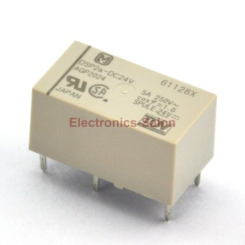 ( 10 pcs/lot )  DSP2a-DC24V Small Polarized Power Relay, 2 Form A, DPST.