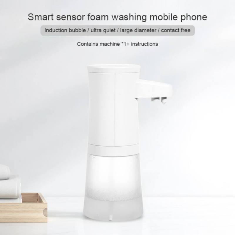 Battery Operated Soap Dispenser Home Kitchen Bathroom Mute Infrared Induction Soap Storage Bottle Automatic Foam Soap Dispenser Bathroom Fixtures Liquid Soap Dispensers