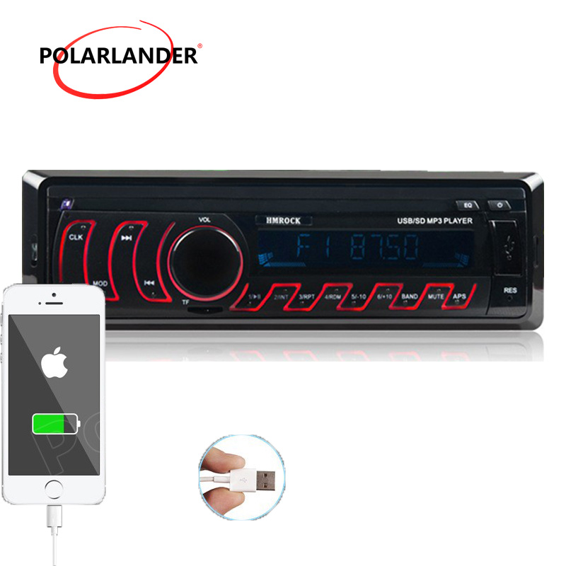 PolarLander no bluetooth Car Radio Audio Stereo In Dash FM Aux USB Disk TF Card with Remote control the new product